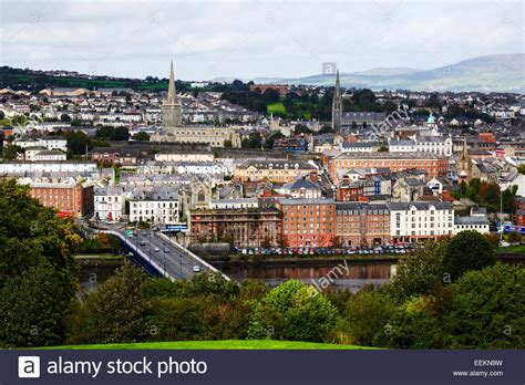 derry londonderry city center landscape view northern