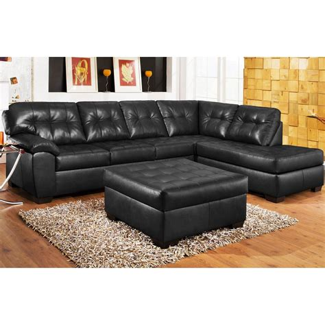 Sofa Schwarz Leder by 21 Collection Of Black Leather Sectional Sleeper Sofas