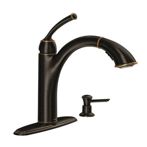 Bronze Bathroom Faucets Menards by Moen Sullivan Single Handle Pullout Kitchen Faucet At Menards 174