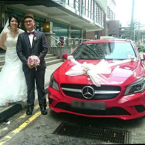 red mercedes cla perfect wedding cars singapore