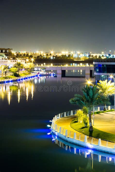Bahrain Aerial View At Night 2 Editorial Stock Photo ...