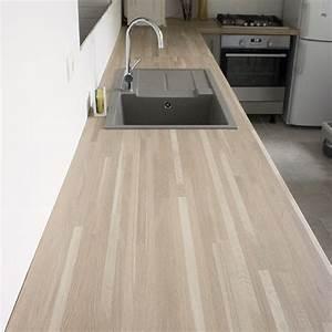 Plan De Travail Chene Blanchi : plan de travail chene massif pour tous vos projets bois ~ Premium-room.com Idées de Décoration