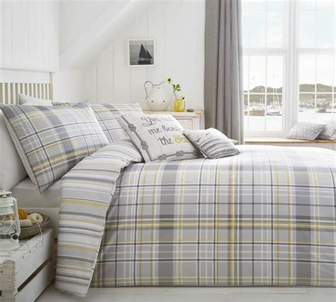 Check Duvet Cover by Check Striped Grey Yellow White King Size Duvet Comforter