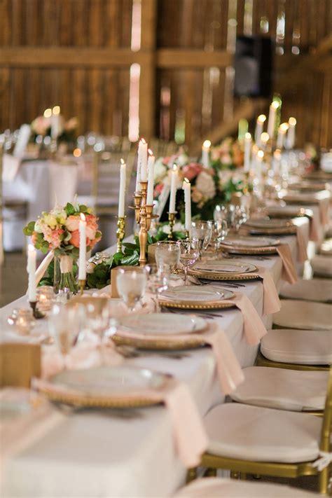 elegant barn wedding decor  romantic modern vintage