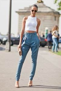 Picture Of High waist pants with crop top