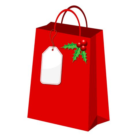 holiday gift bag clipart