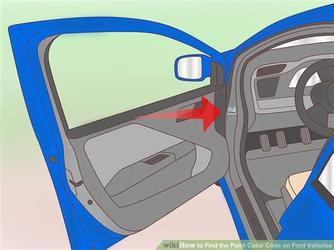 find color code how to find the paint color code on ford vehicles 7 steps
