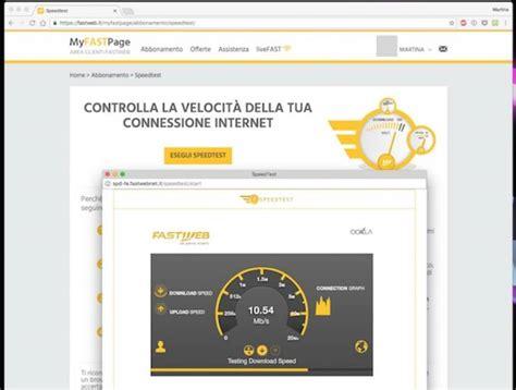 test velocità connessione fastweb test adsl fastweb servizi free