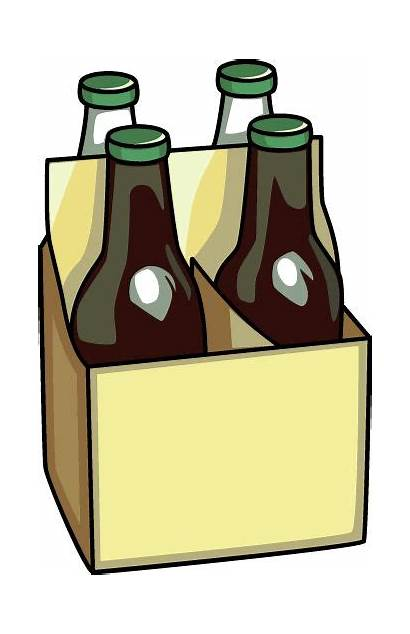 Beer Clip Clipart Bottle Bottles Cans Cartoon