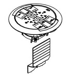 ratchet pro 881 series multiple service floor box cover