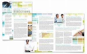 Indesign Presentation Template Free Business Solutions Consultant Newsletter Template Design