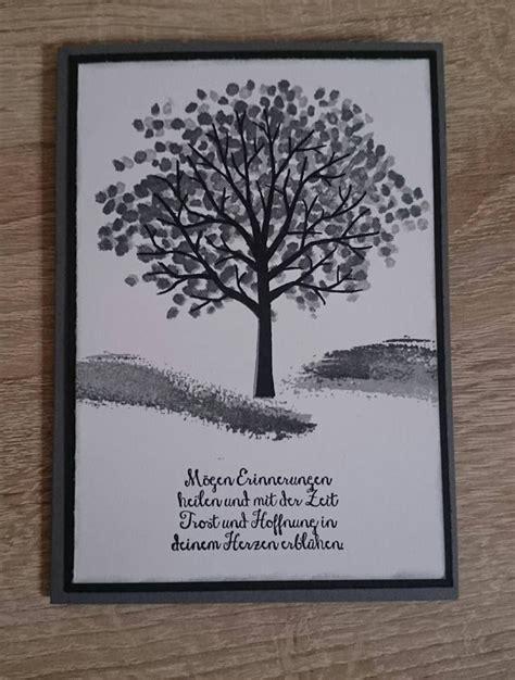 kreativ verliebt beileidskarte stampin  trauer