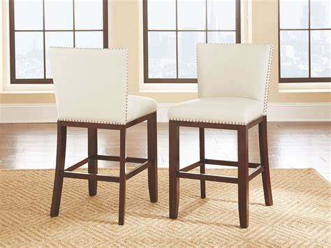 tiffany white vinyl counter chair set    steve