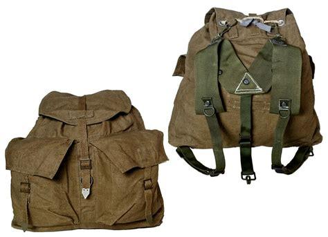 1950s Vintage Czech Army Backpack Khaki Canvas Rucksack