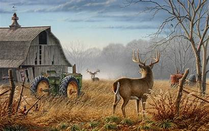 Hunting Background Cool Backgrounds Deer Scene Wallpapers
