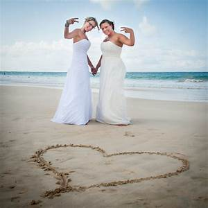 Two brides puerto rico destination wedding equally wed for Puerto rican wedding dress