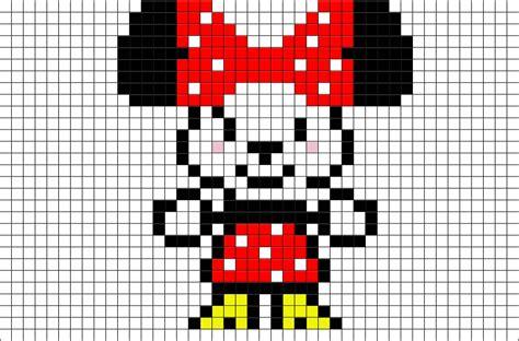 cute minnie mouse pixel art brik