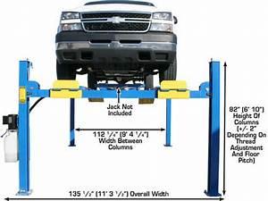 Commercial Grade 4 Post Car Lift  Atlas 412 12 000 Lbs