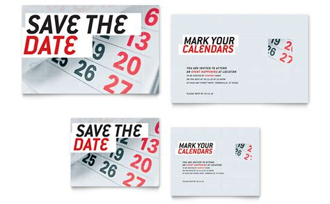 save  date note card template word publisher