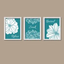 bathroom decor teal bathroom wall canvas or by trmdesign