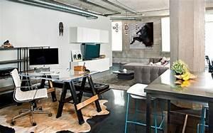 Bureau Moderne Design : bureau maison de style industriel et moderne ~ Teatrodelosmanantiales.com Idées de Décoration