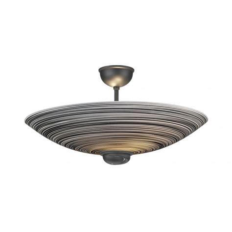 Swirl Ceiling Uplighter Semi Flush For Low Ceilings Black