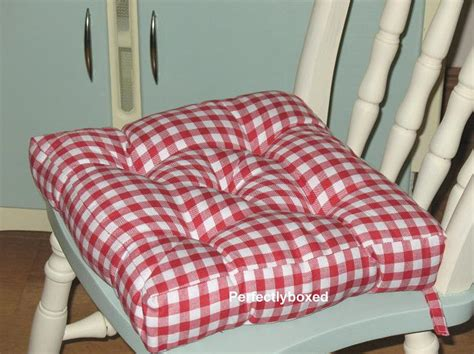gingham seat pads at www perfectlyboxed