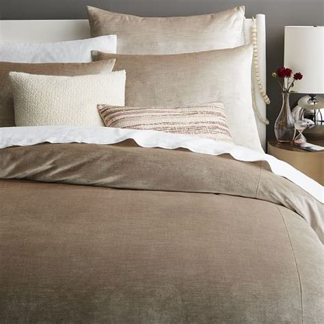 velvet duvet cover washed cotton luster velvet duvet cover shams west elm