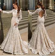 Long Sleeve Modest Wedding Dress by Modest Mermaid Wedding Dresses Bodice Fitted Long Sleeve 2016 Hollow Back Tru