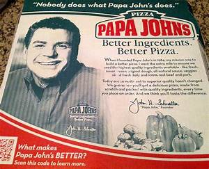 Tired Of Papa John's Ugly Face On My Pizza Boxes