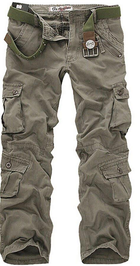 combat mens cotton military camouflage cargo pants