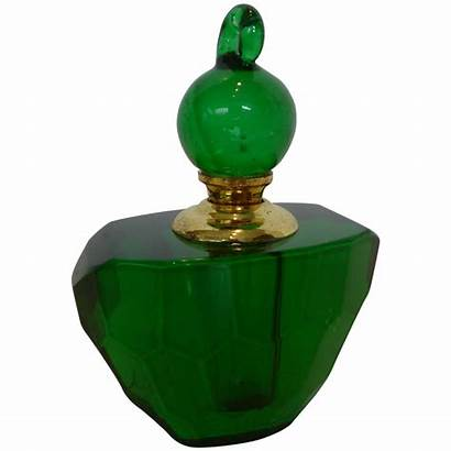 Perfume Crystal Emerald Bottle Lead Dauber Historique