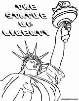 Liberty Statue Coloring Pages Sheet Colorings sketch template