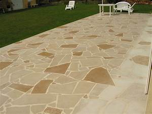 terrasse dallage format opus incertum compose de With photo carrelage terrasse exterieur 1 dallage en pierre naturelle