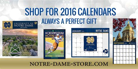 christmas gifts for notre dame fans 2016 notre dame calendars notre dame fan store