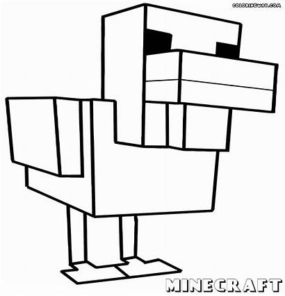 Minecraft Coloring Pages Animals Duck Sheet Colorings