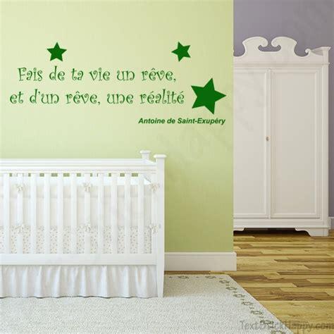 une chambre de reve stickers déco mur peint citation célèbre antoine de