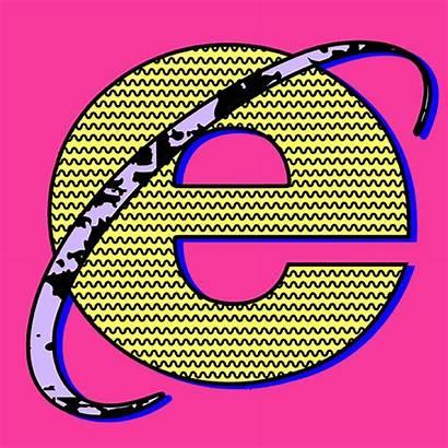 Internet Explorer Vaporwave Gifs 90s Aesthetic Na
