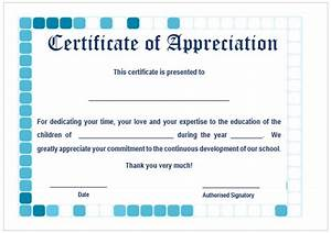 11+ Printable Certificates of Appreciation for Teachers ...