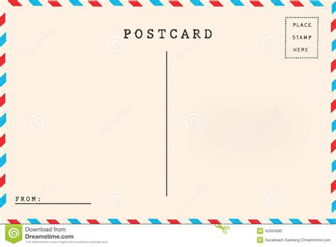 Back Of Airmail Blank Postcard Stock Photo Image Of Aging Empty 42564080