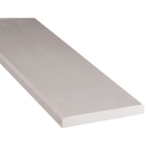 white threshold ms international white double bevelled 6 in x 36 in engineered marble threshold floor and wall
