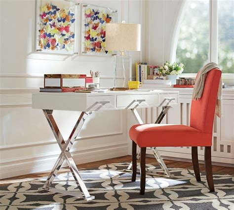 pottery barn white desk 15 home offices featuring trestle tables as desks