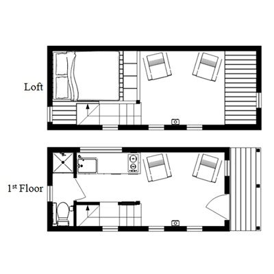 small house floor plans with loft the mcg tiny house with staircase loft photos video and plans