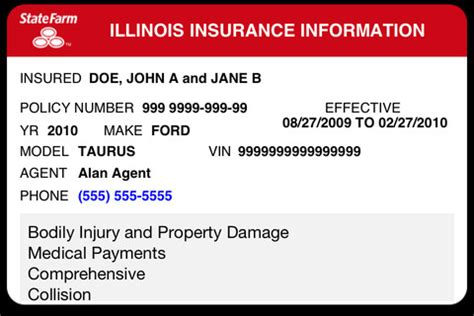 state farm insurance card template 6 best images of progressive insurance card template auto insurance card template state farm