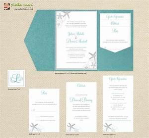 diy custom wedding invitation suite beach sea by With homemade beach wedding invitations