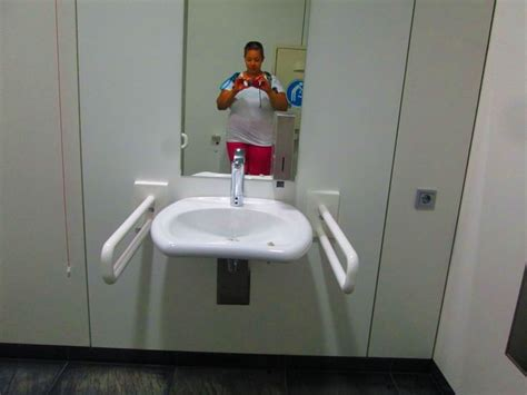 accessible sink  german museum restroom complete