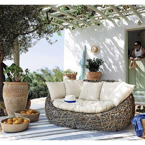 canapé loft maison du monde canapé de jardin 2 places en rotin kubu prix