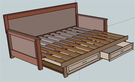 pull  daybed plans home diy ideas   diy daybed pull  daybed diy bed