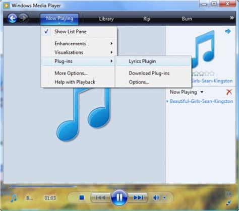 lyrics plugin hiển thị lời b 224 i h 225 t cho windows media player