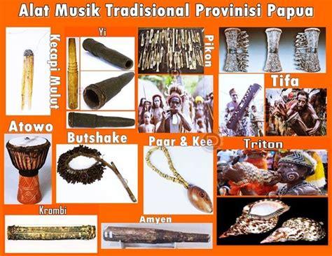 Tifa adalah alat musik khas yang berasal dari papua, alat musik ini mirip dengan kendang dan terbuat dari kayu yang tengahnya di lubangi. Alat Musik Tradisional Provinisi Papua   Musik tradisional, Alat, Musik